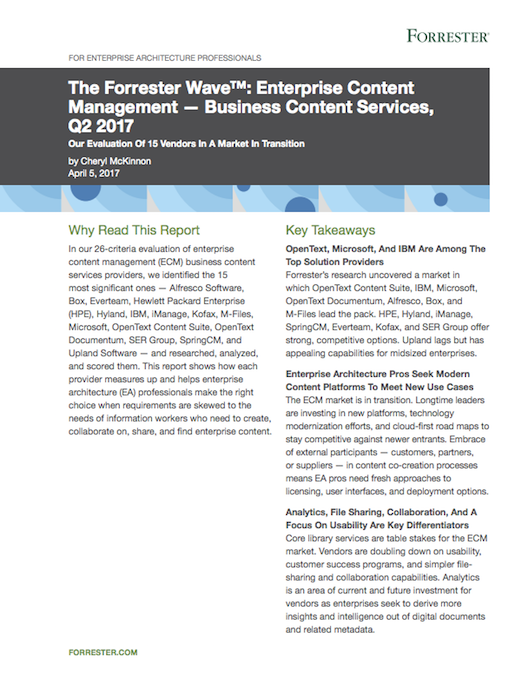 Download Now: Forrester Wave 2017: Box Is A Leader In ECM Business Content  Services